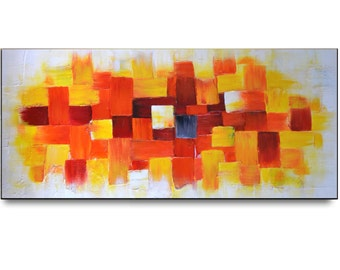 Modern House Art, Impasto Painting, abstract painting, original art, unique holiday gift