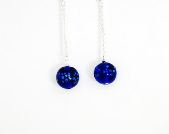 Cobalt Blue Earrings, Blue Earrings, Blue Silver Earrings, Earrings, Cobalt  Earrings, Elegant Earrings, Chandelier Earrings