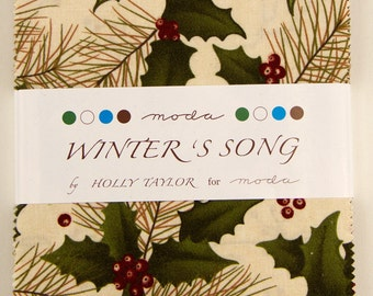 Winter's Song Charm Pack by Holly Taylor for Moda SKU 6590 PP
