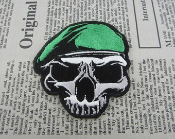 Skull Iron on Patch Embroidery Soldier Appliques