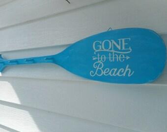 Wooden nautical paddle coat rack / beach decor / nautical decor