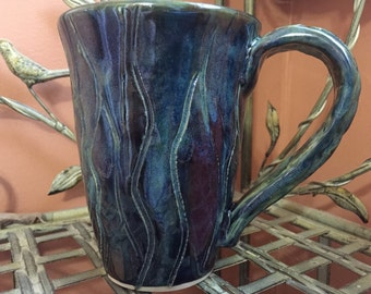 Northern Lights Mug in blue and green