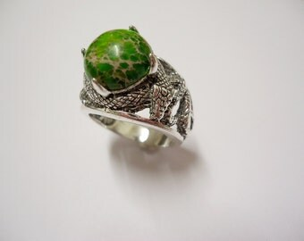 Ring ispired by Slytherin - Harry Potter Voldemort Hogwarts Snake Jewel Gift