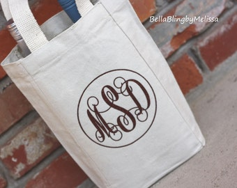 Personalized Wine Bag, Monogrammed Wine Bag, Wine Tote