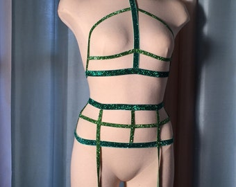 Shimmering Mermaid Bodycage/Body Harness!