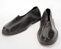 Vintage Men's Tingley Low Top Black Rubber Overshoes - Size Medium - Retro Shoe Protection - For Dress Shoes