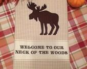 Machine Embroidery Tea Towel