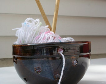 Yarn Bowl with Stars and Hearts
