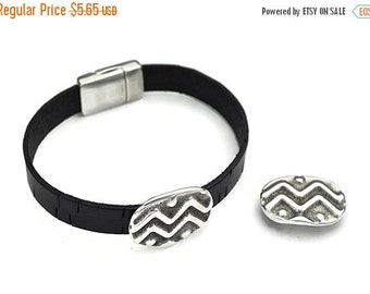 30% OFF 10MM TRIBAL Waves Sldr - Sterling Silver Plated - Qty. 2
