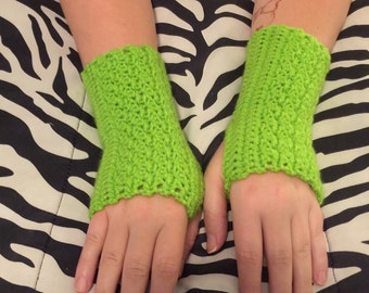 Lime Green Arm Warmers
