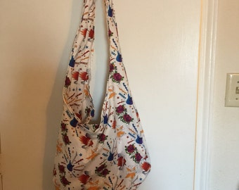 Mommy Rules/Daddy Rocks Hobo Bag With Magnetic Closure
