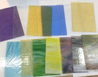 WISSMACH Glass Stained Glass / Mosaic  5 x 7  ... FIFTEEN pieces selected from store inventory