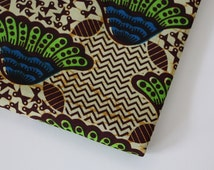 African Wax Print Fabric / Floral Geometric Batik Fabric / Sold By The Half Yard / 100% cotton