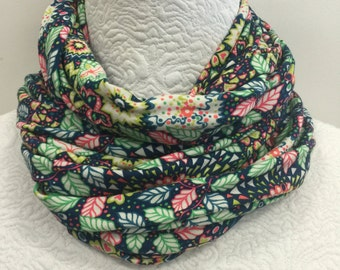Liberty of London infinity Loop Jersey Scarf in Dominic in Bright Floral