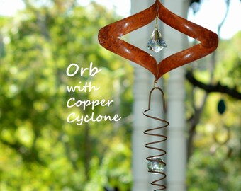 Orb Copper Wind Spinner