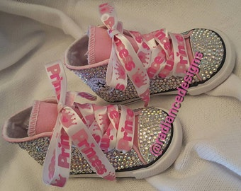 Full Bling High Top Toddler Converse (sizes 2-10)