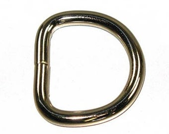 """1-1/4"""" D-Ring Welded 6mm Nickel Plated - 10 Pack"""