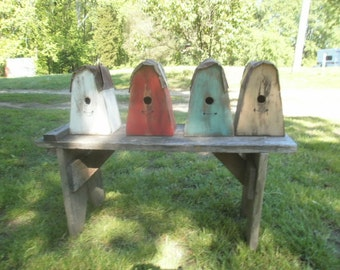 Outdoor Hanging Birdhouse FREE SHIPPING ! / distressed / primitive / metal roof/ wood