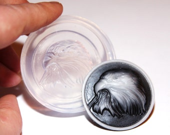 Clear-silicone Eagle mold.Size 40x30mm.Good for pendant,earrings,bracelet,trinket,art,craft. Free USA shipping.(1-53)