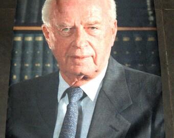 Israel Ex Prime Minister Yitzhak Rabin Digital Print Wall Hang