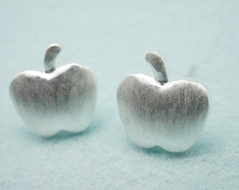 apple earring studs