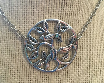 "20"" Silver Birds&Branches Necklace"