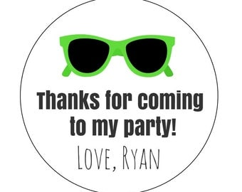 20 Sunglasses Stickers, 80s Theme, 80s Party, Sunglasses Labels, Neon Party, Thanks for Coming, 80s Labels, Awesome 80s Party, 50s Party