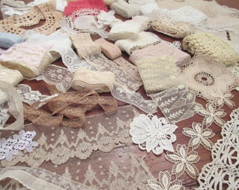 Craft Supplies , Lot of   Vintage Lace ,  Trims , Craft Supplies , Collage Art ,Nr 3