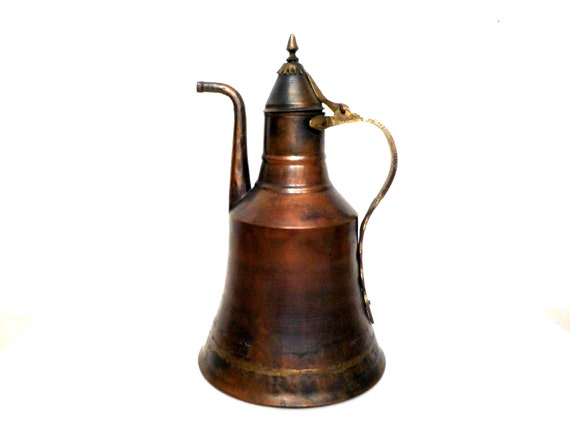 Large Turkish Coffee Maker : Large Copper Coffee Pot Turkish Coffee Pot Middle Eastern