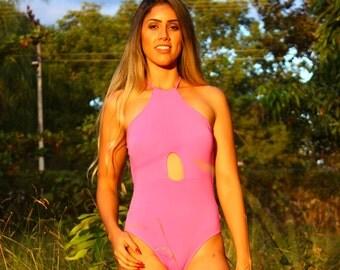 Arpa Bikineria Pitaya Bow Halter One Piece Swimsuit Swimwear Brazilian Bikini