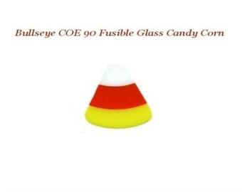 Bullseye COE 90 Halloween Candy Corn Precut Fusible Glass Fusing Supplies