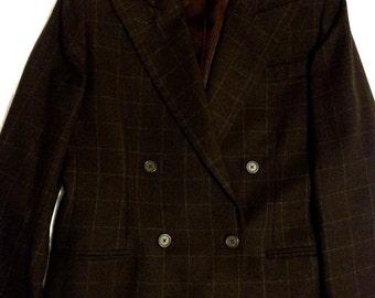 Ralph Lauren Brown Plaid Women's Blazer
