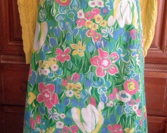 Vintage Floral Wrap Skirt from the 1970's