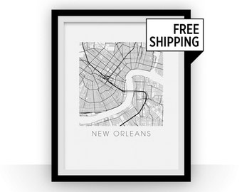 New Orleans Map Print