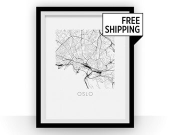 Oslo Map Print