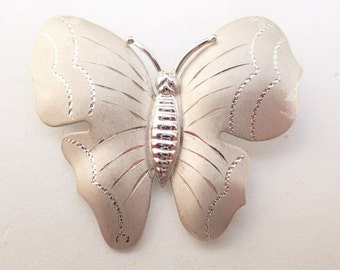 Sterling Silver THEDA Butterfly Figural Brooch