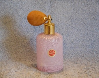 Murano Perfume Bottle with Atomizer - Art Glass