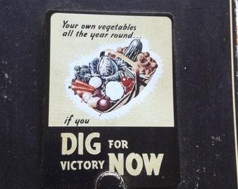 Dig for Victory Now Robert Opie Fridge Magnet