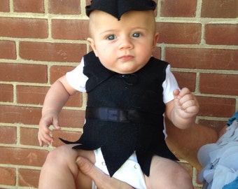 PETER Pan SHADOW Baby Onesie and Hat custom made sizes 3 months to 24 months OOAK