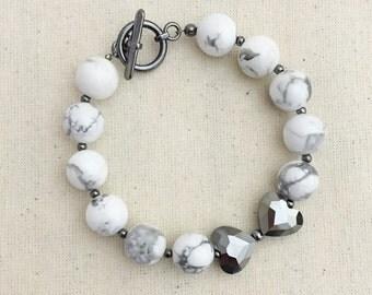 NEW- Marble Bow Bracelet