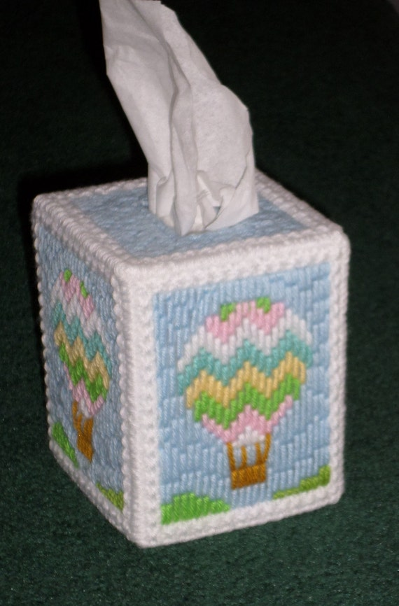 Baby Bedroom In A Box Special: Plastic Canvas Tissue Box Cover For Baby's Room Handmade