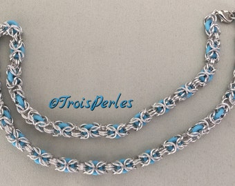 02 Chain Maille necklace - Chainmaille necklace