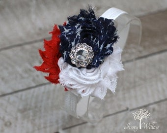 Team USA Headband - 4th of July Headband - Fourth of July - Red White and Blue Headband - Baby Headband - Adult Headband - America