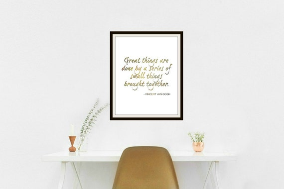 Van Gogh wall art, quote art print