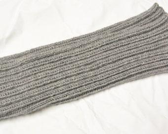 Legwarmers Leg warmers handknitted grey Vegan