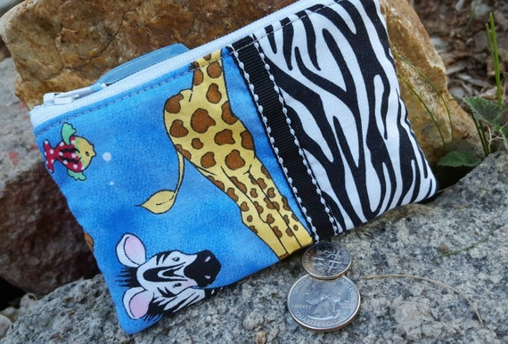 African Animals Coin Purse, Kids  Zipper Wallet