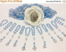 10%off weekend sale 30 pcs Pearl Mini Rosaires, Decade Rosaries, First communion favors Recuerditos Bautizo 30pz/ Mini Pearl Rosary Baptism