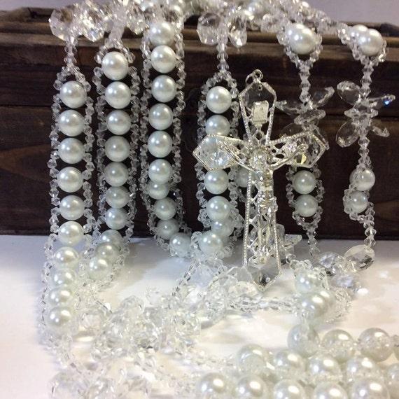 Wedding Lasso: Crystal And Pearl Wedding Lasso Lasso Lazo Laso Swarovski