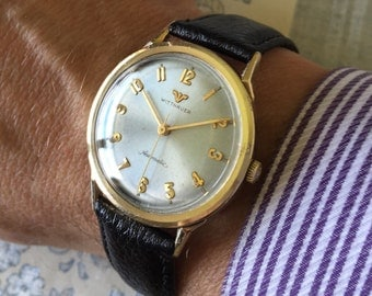 Stunning Longines Wittnauer c1960 Automatic vintage 17 Jewel Swiss watch
