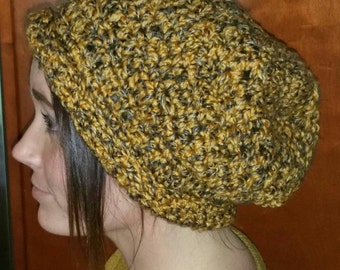 Mustard and grey slouchy